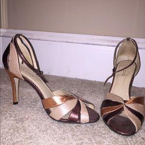 "4"" Aldo Tricolored Heel"